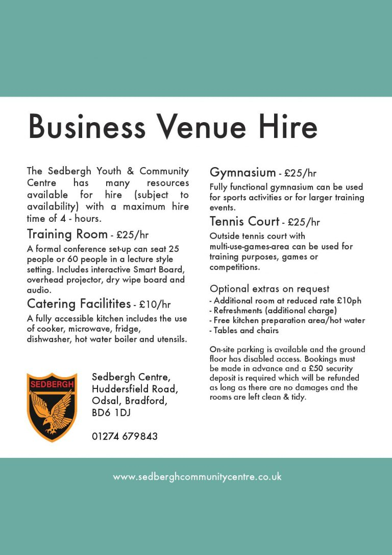 business venue hire