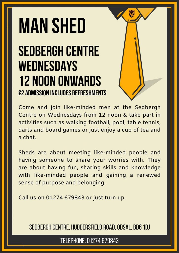 Man Shed every Wednesday at the Sedbergh Centre